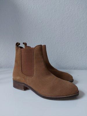 Asos Chelsea Boots 39 wie 38 Echtleder camelfarben