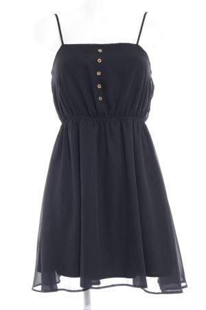Asos Szyfonowa sukienka czarny Imprezowy wygląd