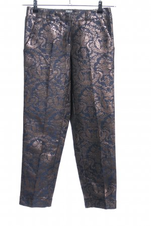 Asos Chinohose blau-bronzefarben Allover-Druck extravaganter Stil