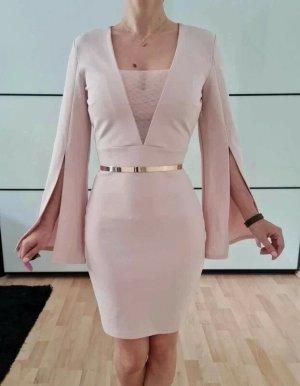 Asos Cocktailkeid XXS XS 32 34 rosa Volant Bleistiftkleid Dress Cocktailkleid Bodycon Midi Kleid Neu