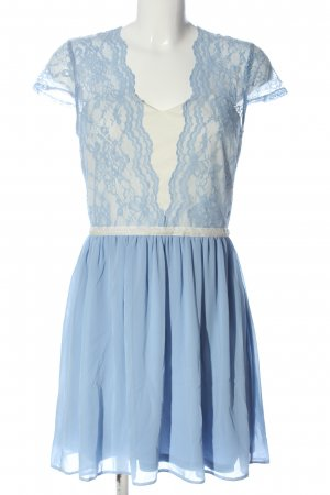 Asos Cocktailkleid blau-wollweiß Elegant