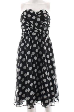 Asos Cocktailkleid schwarz-weiß Punktemuster Elegant