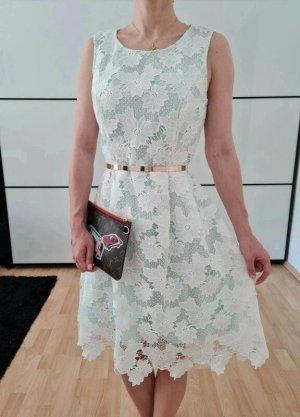 Asos Cocktailkleid Spitze Kleid XS S 34 36 weiß mint Sommerkleid Hochzeitskleid Minikleid Etuikleid Neu