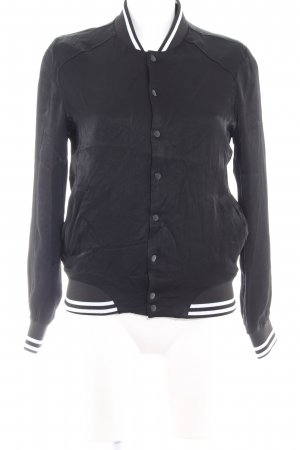 Asos College Jacket black-white
