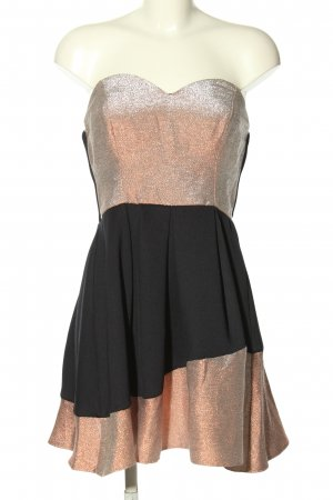 Asos Corsage Dress silver-colored-black elegant