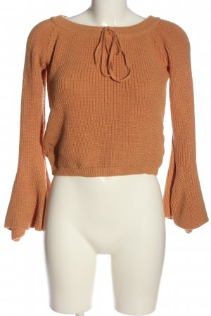 Asos Cropped Pullover hellorange Webmuster Casual-Look