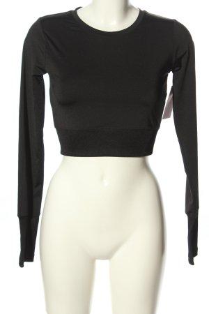 Asos Cropped Shirt schwarz Casual-Look