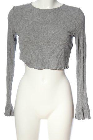 Asos Cropped Shirt hellgrau Casual-Look