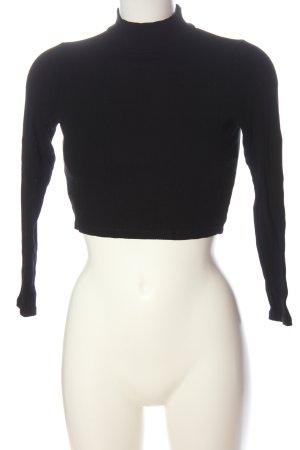 Asos Cropped Shirt black casual look