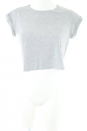 Asos Cropped shirt lichtgrijs casual uitstraling