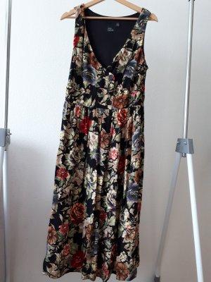 ASOS CURVE:  geblümtes Viskose-Kleid ohne Arm, Empire-Style, Gr. 46