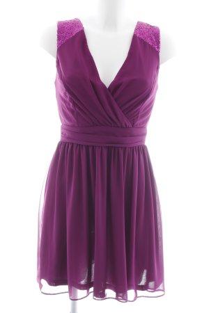 Asos Cut-Out-Kleid purpur Party-Look