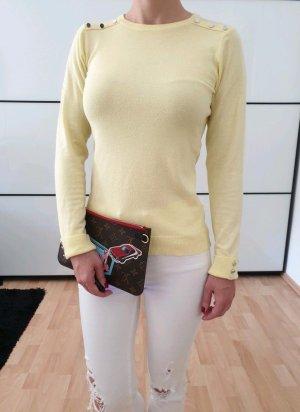 Asos Deko Pullover 34 36 XS S gelb knit Pulli Oberteil Bluse Hemd Tunika Strick Shirt Top