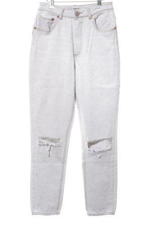 Asos Denim Jeans boyfriend blanc style décontracté