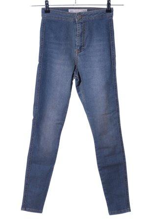 Asos Denim Pantalon taille haute bleu style décontracté