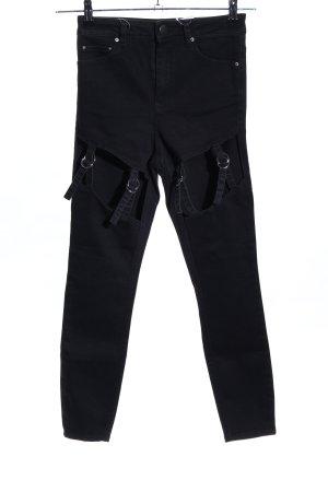 Asos Denim Jeans taille haute noir style extravagant
