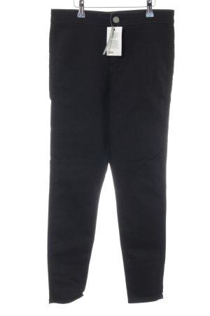 Asos Denim High Waist Jeans schwarz Business-Look