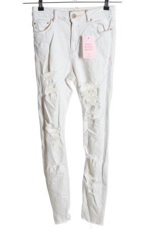 Asos Denim Jeans taille haute blanc style décontracté