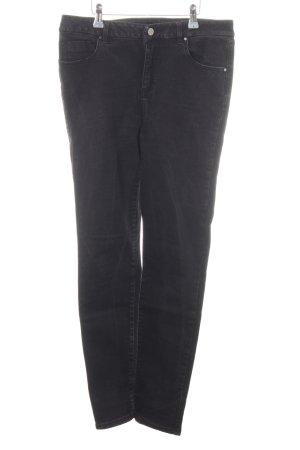 Asos Denim Hoge taille jeans zwart zakelijke stijl