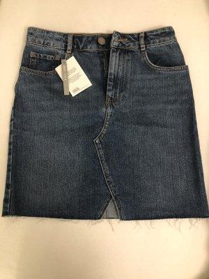 Asos Denim Jupe en jeans bleu-bleu foncé