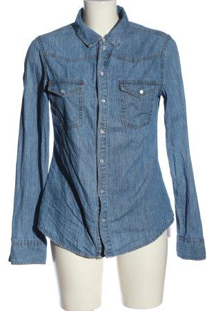 Asos Denim Jeansowa koszula niebieski W stylu casual