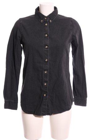 Asos Denim Spijkershirt zwart casual uitstraling