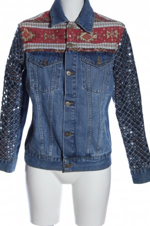 Asos Denim Jeansjacke grafisches Muster Casual-Look