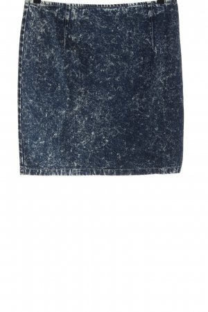 Asos Denim Denim Skirt blue flecked casual look