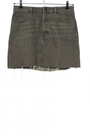 Asos Denim Jupe en jeans gris clair moucheté style décontracté