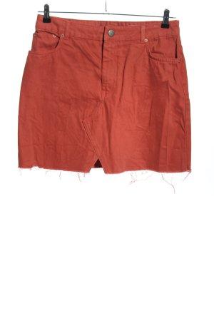 Asos Denim Jupe en jeans rouge style décontracté
