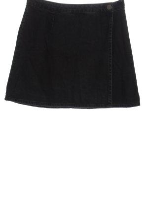 Asos Denim Jeansowa spódnica czarny Wzór w paski W stylu casual