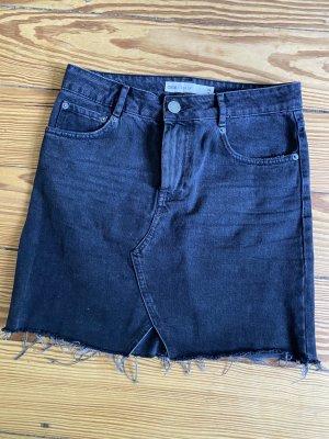 Asos Denim Jupe en jeans gris anthracite coton