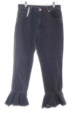 Asos Denim Jeans flare noir-gris style décontracté