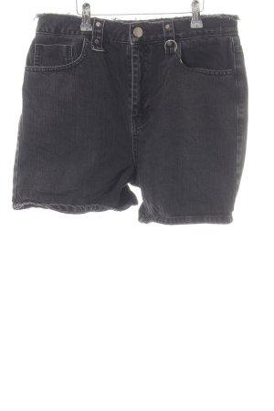 Asos Denim Short en jean gris anthracite-gris foncé Look de motard