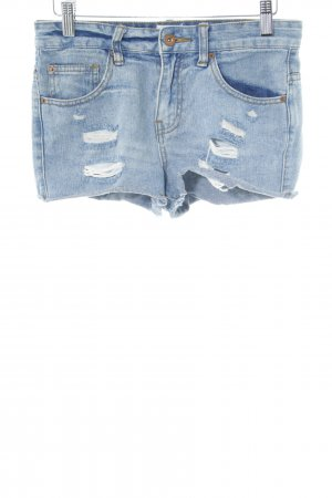 Asos Denim Jeansshorts neonblau Casual-Look