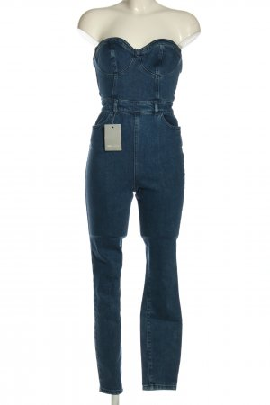 Asos Denim Jumpsuit blau Casual-Look