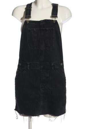 Asos Denim Pinafore Overall Skirt black casual look