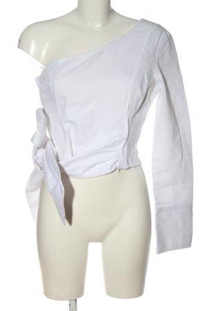 Asos Denim Top asymétrique blanc style décontracté