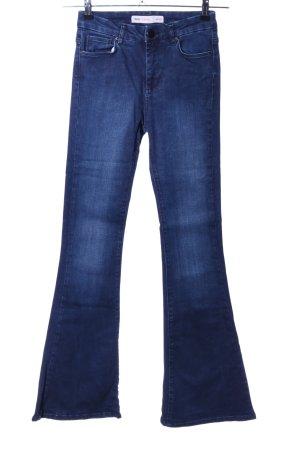 Asos Denim Pantalon pattes d'éléphant bleu style décontracté