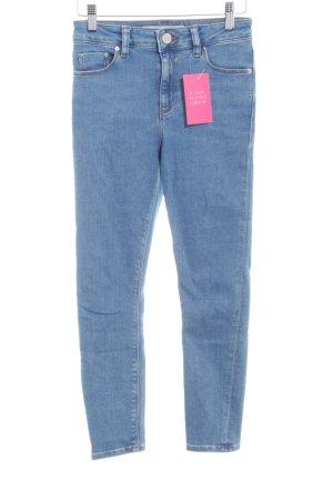 Asos Denim Skinny Jeans blassblau Casual-Look