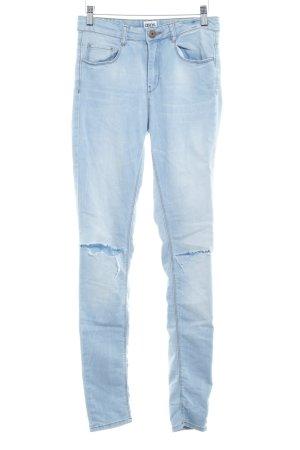 Asos Denim Skinny Jeans blassblau Destroy-Optik