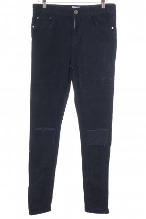Asos Denim Skinny Jeans dunkelblau Destroy-Optik