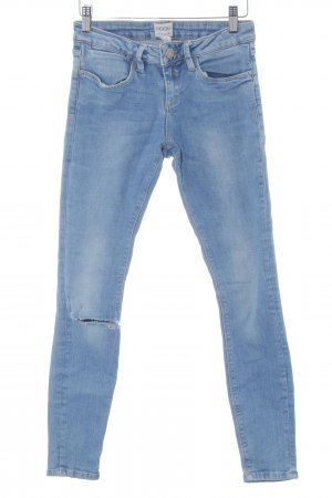 Asos Denim Skinny Jeans hellblau Street-Fashion-Look