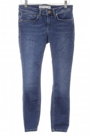 Asos Denim Skinny Jeans stahlblau Casual-Look