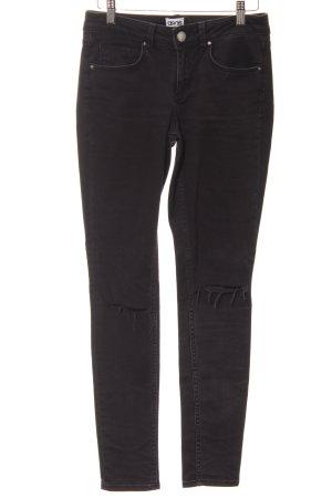 Asos Denim Slim Jeans schwarz Destroy-Optik
