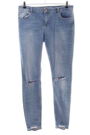 Asos Denim Stretch jeans blauw casual uitstraling
