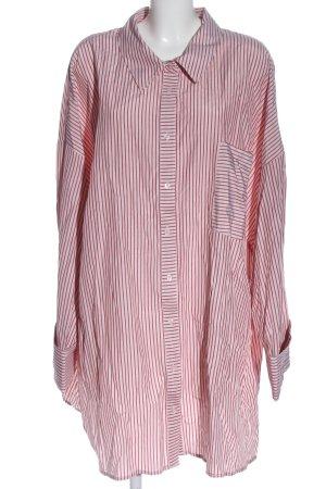 ASOS DESIGN Hemdblouse roze-rood gestreept patroon casual uitstraling