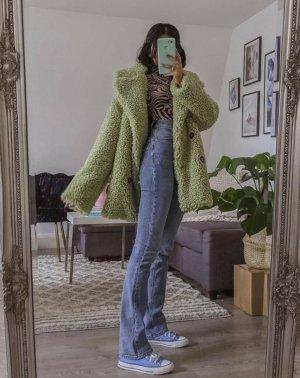 asos design mantel mint grün pastel teddy wintermantel flauschig pinterest coat