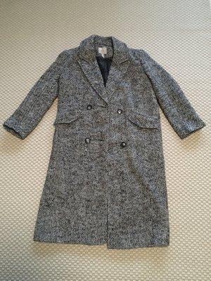 ASOS DESIGN Abrigo ancho negro-blanco
