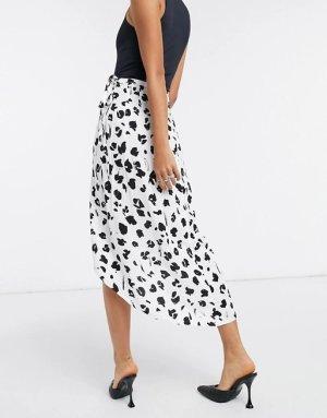 ASOS DESIGN Wraparound Skirt black-white
